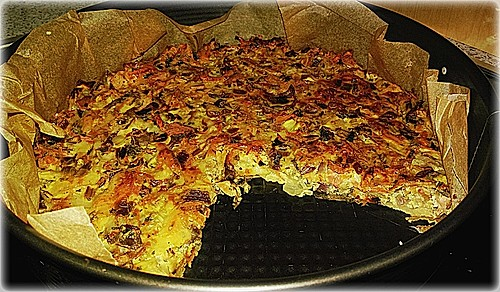 sonjas low carb quiche ohne boden mit wildkr utern rezept mit bild. Black Bedroom Furniture Sets. Home Design Ideas