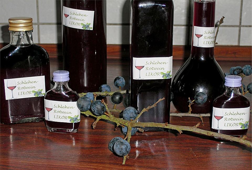 schlehen rotwein lik r rezept mit bild von sofi. Black Bedroom Furniture Sets. Home Design Ideas