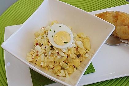Eiersalat mit Äpfeln und Curry 4
