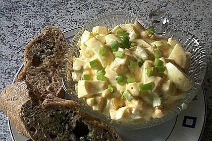 Eiersalat mit Äpfeln und Curry 2