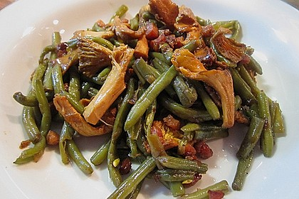 Grüner Bohnen-Pfifferling-Salat