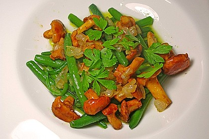 Grüner Bohnen-Pfifferling-Salat 3