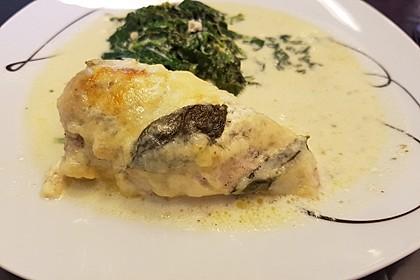 Hähnchenfilets mit Käsehaube 4
