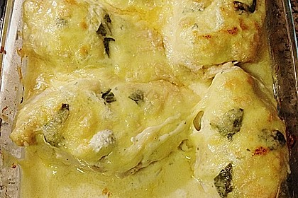Hähnchenfilets mit Käsehaube 10