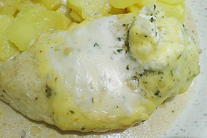 Hähnchenfilets mit Käsehaube 17