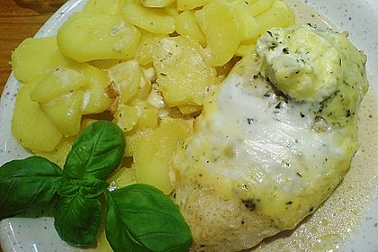 Hähnchenfilets mit Käsehaube 8
