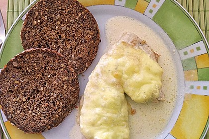 Hähnchenfilets mit Käsehaube 2