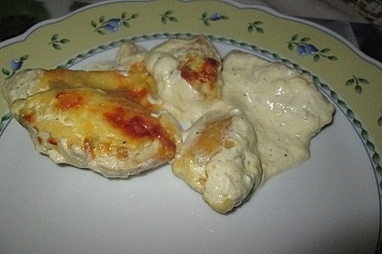 Hähnchenfilets mit Käsehaube 9