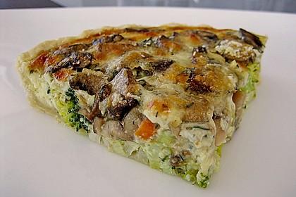 Gemüse - Quiche mit Parmesan