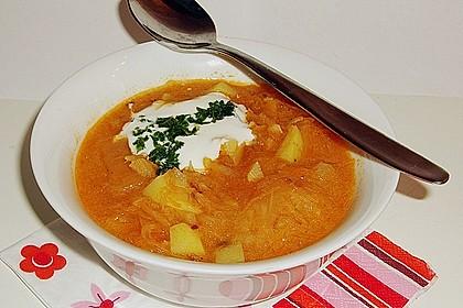 Szegediner Sauerkrautsuppe 2