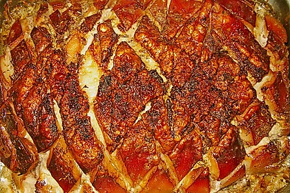 Schweinekrustenbraten in Zwiebel - Bier - Sauce 10