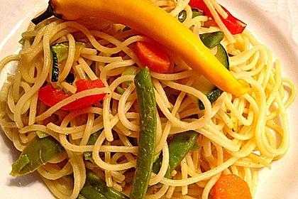 Gebratene Spaghetti mit Gemüse 3