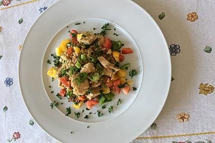 Zartweizen mit Paprika und Hähnchenfleisch 1