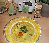 Kartoffel - Curry mit Pfirsich (Bild)