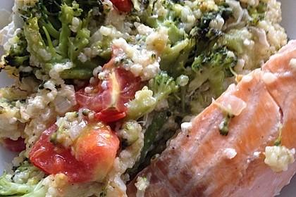 Brokkoli-Hirse mit Feta/Schafskäse 25