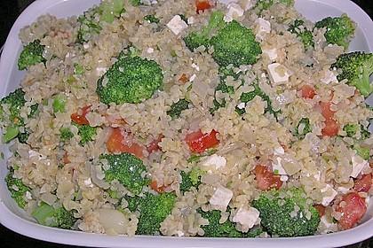 Brokkoli - Hirse mit Feta / Schafskäse 4