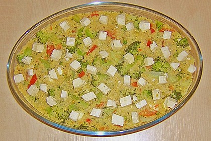 Brokkoli - Hirse mit Feta / Schafskäse 17