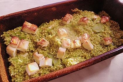 Brokkoli-Hirse mit Feta/Schafskäse 15