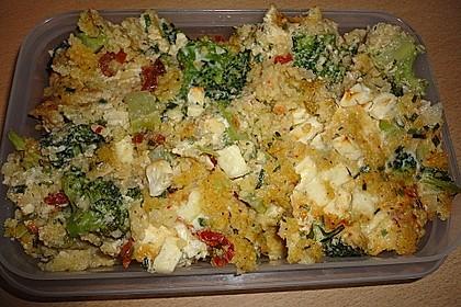 Brokkoli - Hirse mit Feta / Schafskäse 6