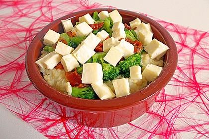 Brokkoli - Hirse mit Feta / Schafskäse 5