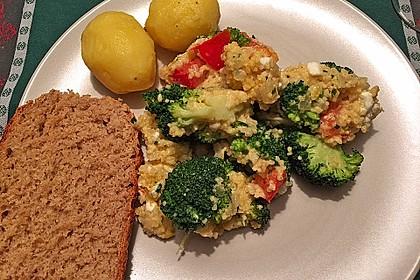Brokkoli - Hirse mit Feta / Schafskäse 7
