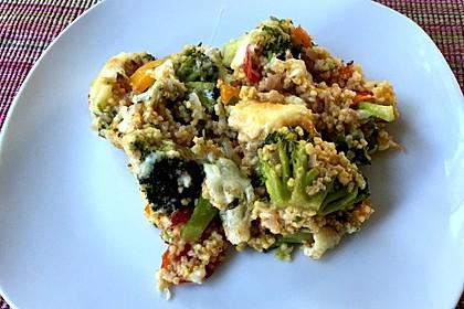 Brokkoli-Hirse mit Feta/Schafskäse 9