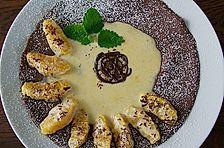 Schokoladen - Pfannkuchen mit Orangensauce
