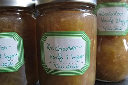 Rhabarber - Marmelade mit Ingwer 6