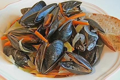 Muscheln in Weißwein 6