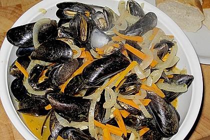 Muscheln in Weißwein 16