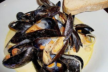 Muscheln in Weißwein 9