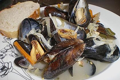 Muscheln in Weißwein 10