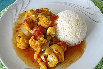 Blumenkohl - Tomaten - Curry