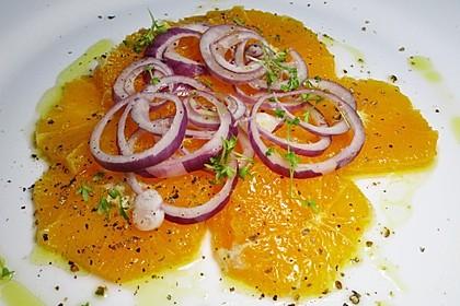 Orangen - Carpaccio mit roten Zwiebeln und schwarzem Pfeffer 5