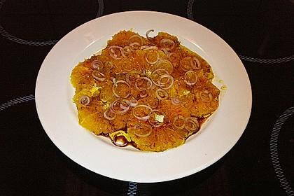 Orangen - Carpaccio mit roten Zwiebeln und schwarzem Pfeffer 3