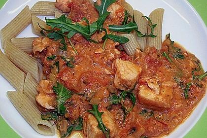 Gnocchi mit Lachs und Rucola 22
