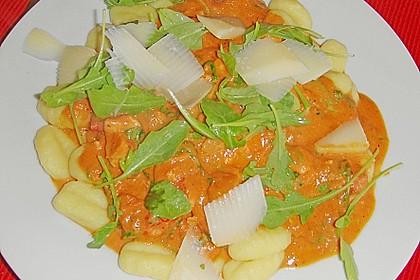 Gnocchi mit Lachs und Rucola 19