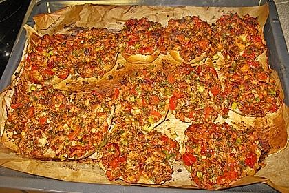 Vegetarische Pizza - Brötchen