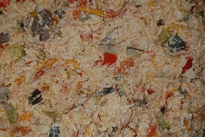 Bunte mediterrane Gemüsepfanne mit Reis 30