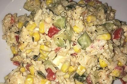 Bunte mediterrane Gemüsepfanne mit Reis 35