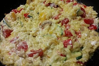 Bunte mediterrane Gemüsepfanne mit Reis 8