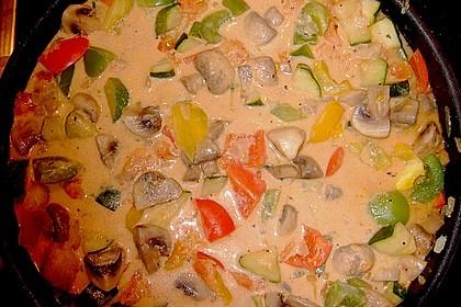 Bunte mediterrane Gemüsepfanne mit Reis 28