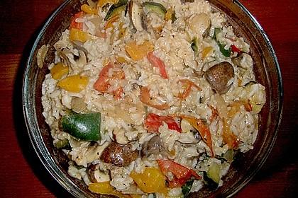 Bunte mediterrane Gemüsepfanne mit Reis 21