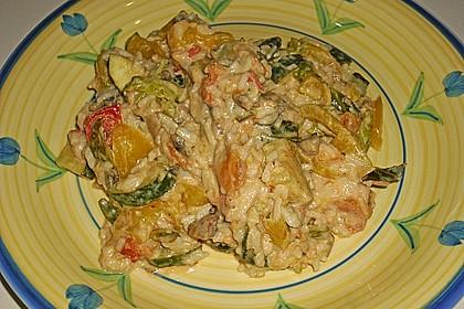 Bunte mediterrane Gemüsepfanne mit Reis 19