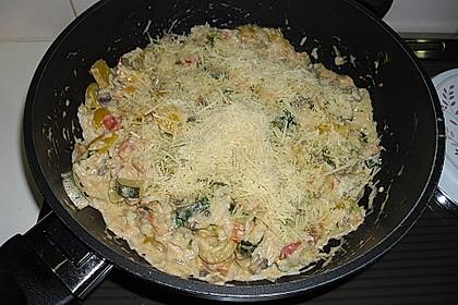 Bunte mediterrane Gemüsepfanne mit Reis 32