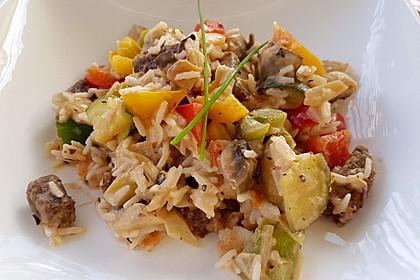 Bunte, mediterrane Gemüsepfanne mit Reis 3