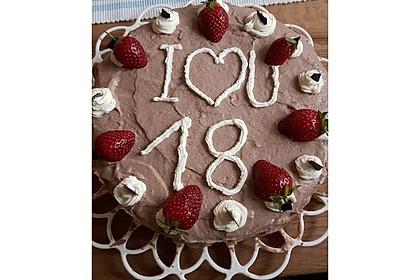 Schokoladen - Buttercreme - Torte