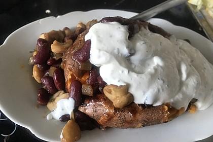 Gebackene Süßkartoffeln gefüllt mit Pilzen 27