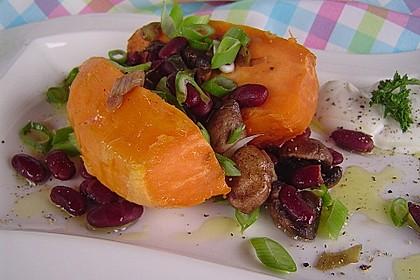 Gebackene Süßkartoffeln gefüllt mit Pilzen 13