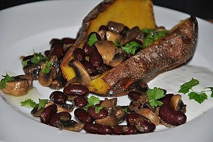 Gebackene Süßkartoffeln gefüllt mit Pilzen 17